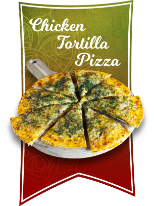 chicken tortilla pizza 1